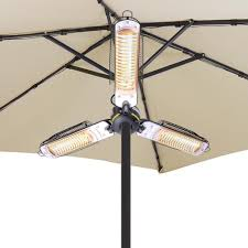 halogen patio heaters amazon com yescom 1500w folding umbrella electric patio space