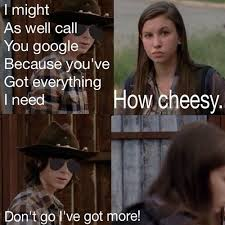 Carl Walking Dead Meme - carl s got the best dad joke pick up lines the walking dead the