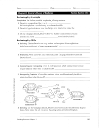 Charles Worksheet Answer Key Darwin S Theory Of Evolution Worksheet Chapter 15 Darwin S