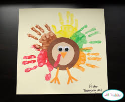 preschool crafts for thanksgiving rainbow handprint turkey