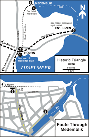 Holland Map Life U0027s Little Adventures Hoorn And The Historic Triangle Holland