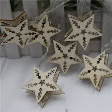 Christmas Window Decorations Battery Operated by Battery Operated 2 5m 10led Multi Color Wood Star Fairy String