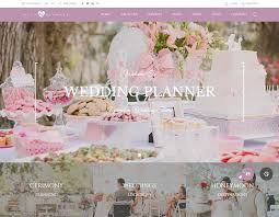 wedding planner website 8 best wedding planner themes for 2017 siteturner