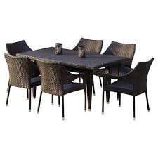 Wicker Patio Dining Table Wicker Patio Dining Sets You Ll Wayfair