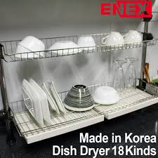 Dish Drying Rack For Sink Korea No 1 Enex Pole Type Sink Dish Dryer 18 Kinds Height