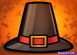 how to draw a pilgrim hat step by step thanksgiving seasonal