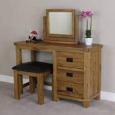 Rustic Vanity Table Oak Dressing Tables Plus Rustic Design Style And Wooden Black