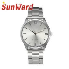 sunward relogio masculino crystal stainless steel analog quartz wrist bracelet fashion mens watches horloge 17may3 jpg