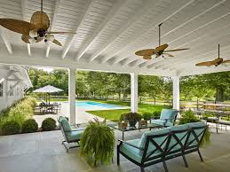 Patio Ceiling Fans Outdoor New York Backyard Patio Covers Farmhouse With Tile Floor Mount Lights