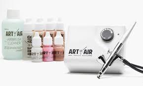 professional airbrush makeup system airbrush makeup system 13 pc groupon goods