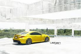 lexus rc yellow lexus rc f velgen wheels cars coupe modified wallpaper 1600x1068