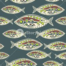 vector seamless pattern of fish abstract texture royalty free