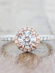 platinum metal rings images Maive round diamond halo engagement ring in rose gold ken dana jpg