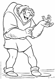 hunchback notre dame color disney coloring pages