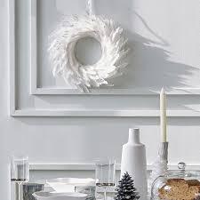 wreath decoration with white feathers christmas decor zara