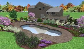 Pool Landscape Pictures by 3d Pool Design Custom Deck U0026 Landscape Designs Fronheiser Pools