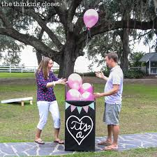 our balloon release baby gender reveal it s a the thinking