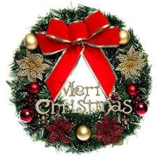 christmas wreaths christmas wreath with ribbon and bells indoor outdoor