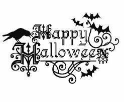 happy halloween decal halloween decals by artisticattires on etsy