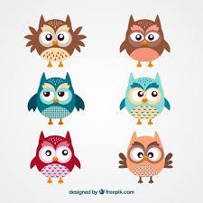 cute owl cartoons vector free download