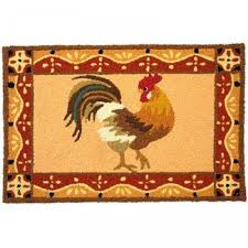 Rooster Rugs For The Kitchen Shop Jellybean Barnyard Rooster Rug Outdoor Door Mat Jellybean