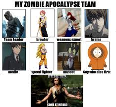 Zombie Team Meme - my zombie apocalypse team by eroshik on deviantart
