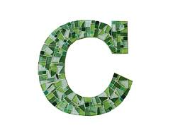 mosaic letter c from green street mosaics you choose the letter