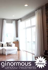 Short Wide Window Curtains by Make Extra Long Curtains Using Inexpensive Bed Bath And Beyond