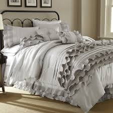 Side Tables For Bedroom by Bedroom Grey And White Ruffle Comforter With Area Rug And Side