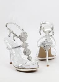 Rhinestone Sandal Heels Silver High Heels Prom Shoes With Rhinestones Wedding Sandals