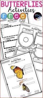 3 FREE Butterflies Activities perfect for butterflies research an