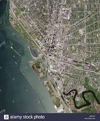 Buffalo New York Map Aerial Map View Above Buffalo New York Metropolitan Area Stock
