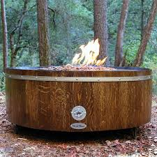 wine barrel fire table moderna wine barrel fire pit table metal
