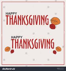 happy thanksgiving logobanner flat design poster stock vector