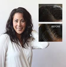 black at root of hair legno black brush on powder conceals roots quickly easily