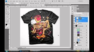 create custom digital apparel photoshop tutorial youtube