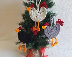 chicken ornaments crochet chicken ornaments crochet chicken