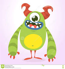 vector halloween happy green monster vector halloween monster character with one