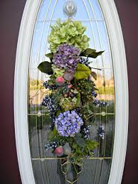 Decorative Wreaths For Home by Front Door Teardrop Teardrop Vertical Spring Summer Door Swag