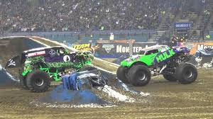 grave digger monster truck videos youtube monster jam arnhem 2013 grave digger vs hulk dueling donut