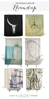 diy shower curtain art house of jade interiors blog diy octopus art round up