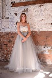two color wedding dress gown strapless two tone lace and tulle destination wedding