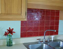 red tile backsplash kitchen faux tile kitchen backsplash