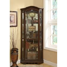 curio cabinet mahogany lighted corner curiot ideas beadboard vs