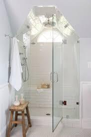 Subway Tiles Bathroom Handmade Subway Tile Bathroom Traditional With Wainscoting Nickel