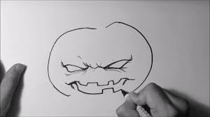 how to draw a halloween jack o lantern youtube