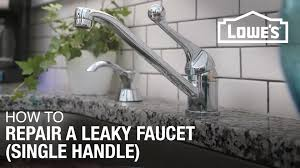 Fix Dripping Faucet Kitchen How To Fix A Dripping Or Leaky Single Handle Faucet Youtube