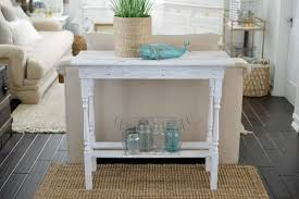 Cottage Sofa Table Diy White Washed Wood Table Fox Hollow Cottage