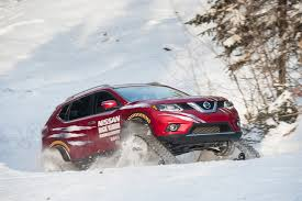 nissan pathfinder in snow winter ready nissan rogue warrior concept rides on snow tracks