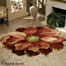 Flower Area Rugs by Sculpted Round Flower Rugs Maeli Area Rug 3 U0027 Round